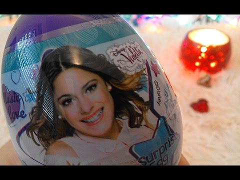VIOLETTA Disney Story of a musically talented teens. Music LOVE Surprise egg collection