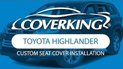 How to Install 2014-2019 Toyota Highlander XLE Custom Seat Covers