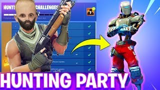 *NEW HUNTING PARTY SKIN* WEEK 7 CHALLENGES! NEW GAME MODES! (FORTNITE BATTLE ROYALE)