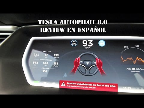Review: Tesla AUTOPILOT (Software 8.0) en español