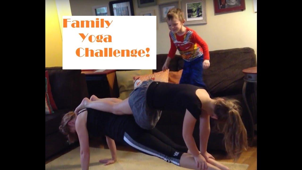 Family yoga challenge - YouTube