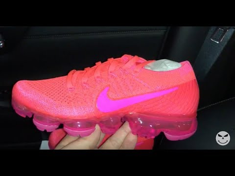 e78a2234bdadc Nike Air VaporMax Hyper Punch Pink Women s Sneakers - YouTube