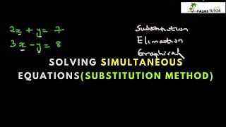 Solving Simultaneous Equations (substitution method)