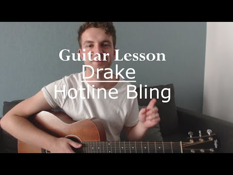 Hotline Bling  Drake Guitar LessonGuitar TutorialEasy Two Chord Song with Ste Shaw