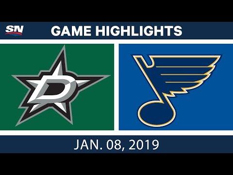 NHL Highlights | Stars vs. Blues - Jan. 8, 2019