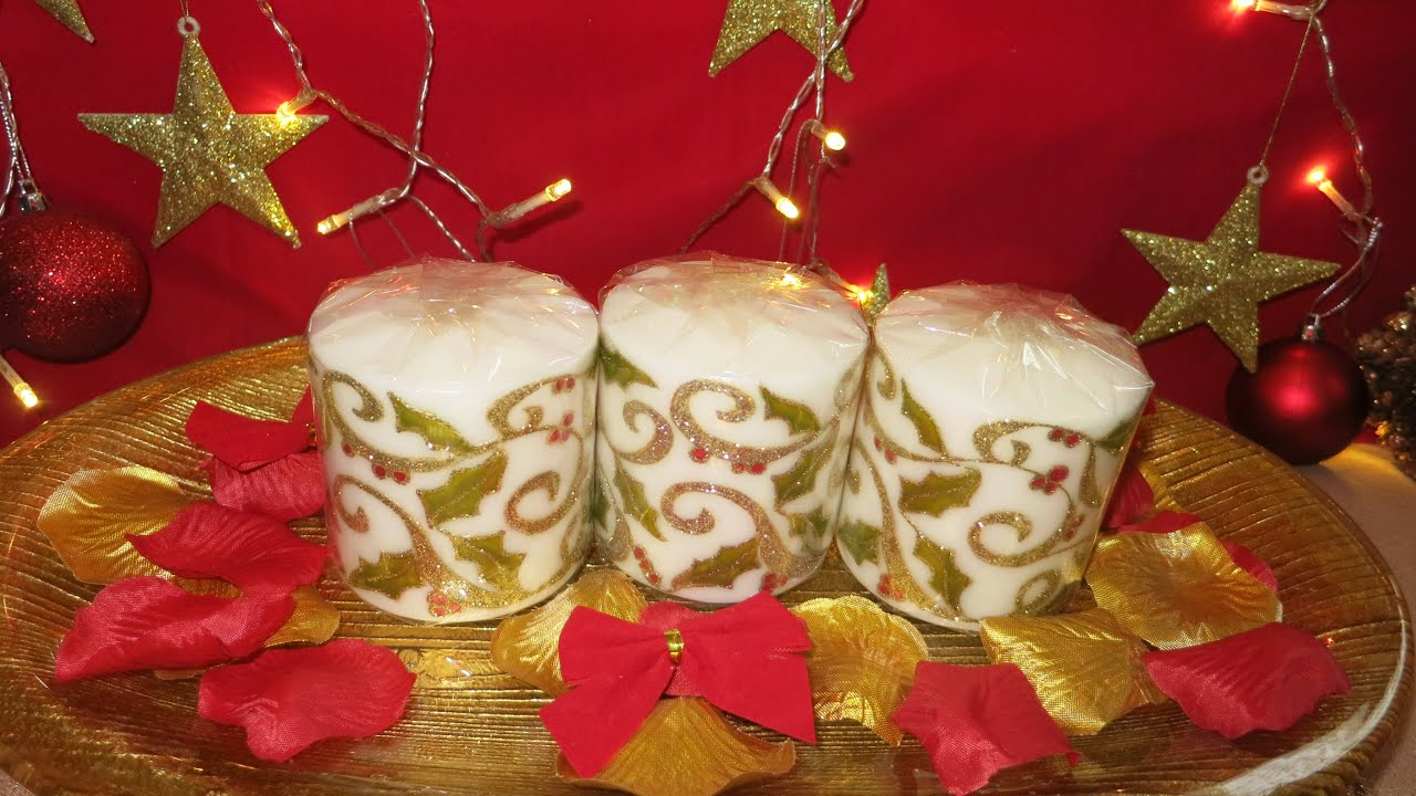 christmas candle tutorial youtube