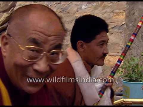 His Holiness Dalai Lama arrives for Spiti Kalchakra, in long mountain convoy