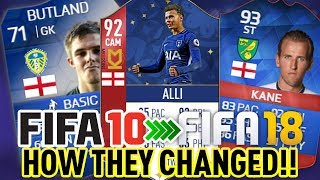 FIFA 10-18 - ENGLAND WORLD CUP SQUAD, HOW THEY CHANGED IN FUT! #1