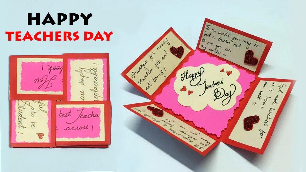 DIY Teacher's Day Card | Happy Teachers Day | Handmade ...