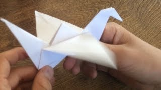 how to make paper bird