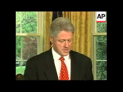USA: PRESIDENT CLINTON'S REACTION TO N. IRELAND PEACE AGREEMENT