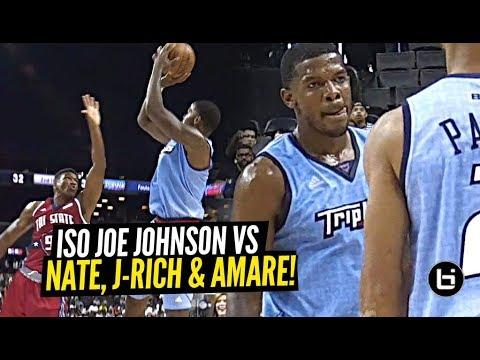 Iso Joe Johnson HITS GAME WINNER vs Nate Robinson & Amare & Daps Up Ice Cube! Big 3!