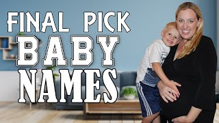 Week 36 Bumpdate - Kids React to Final Pick Baby Name Choices!