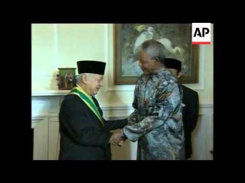 SOUTH AFRICA: INDONESIAN PRESIDENT AWARDED ORDER OF GOOD HOPE