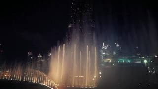 Burj Khalifa Dubai, fountain show / Adele - 007 James Bond Skyfall
