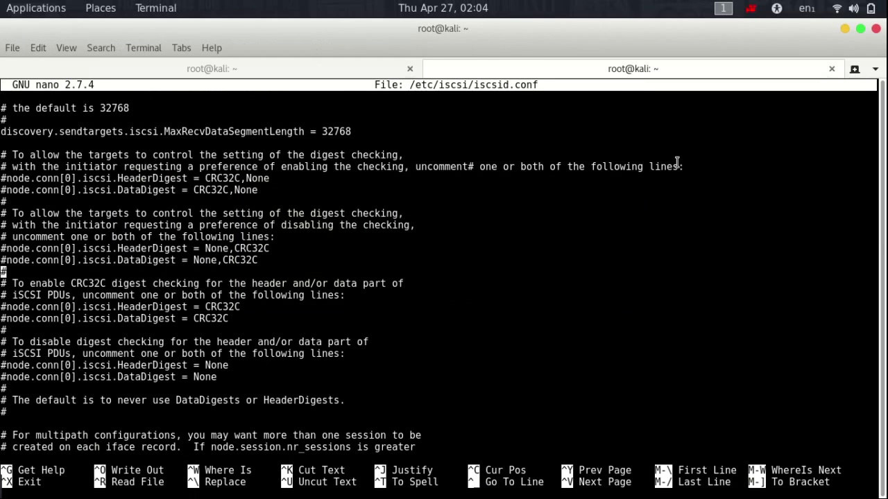 iSCSI Installation in linux