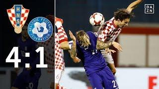 Skibbes Elf chancenlos in Kroatien: Kroatien - Griechenland 4:1 Highlights | WM-Quali | DAZN