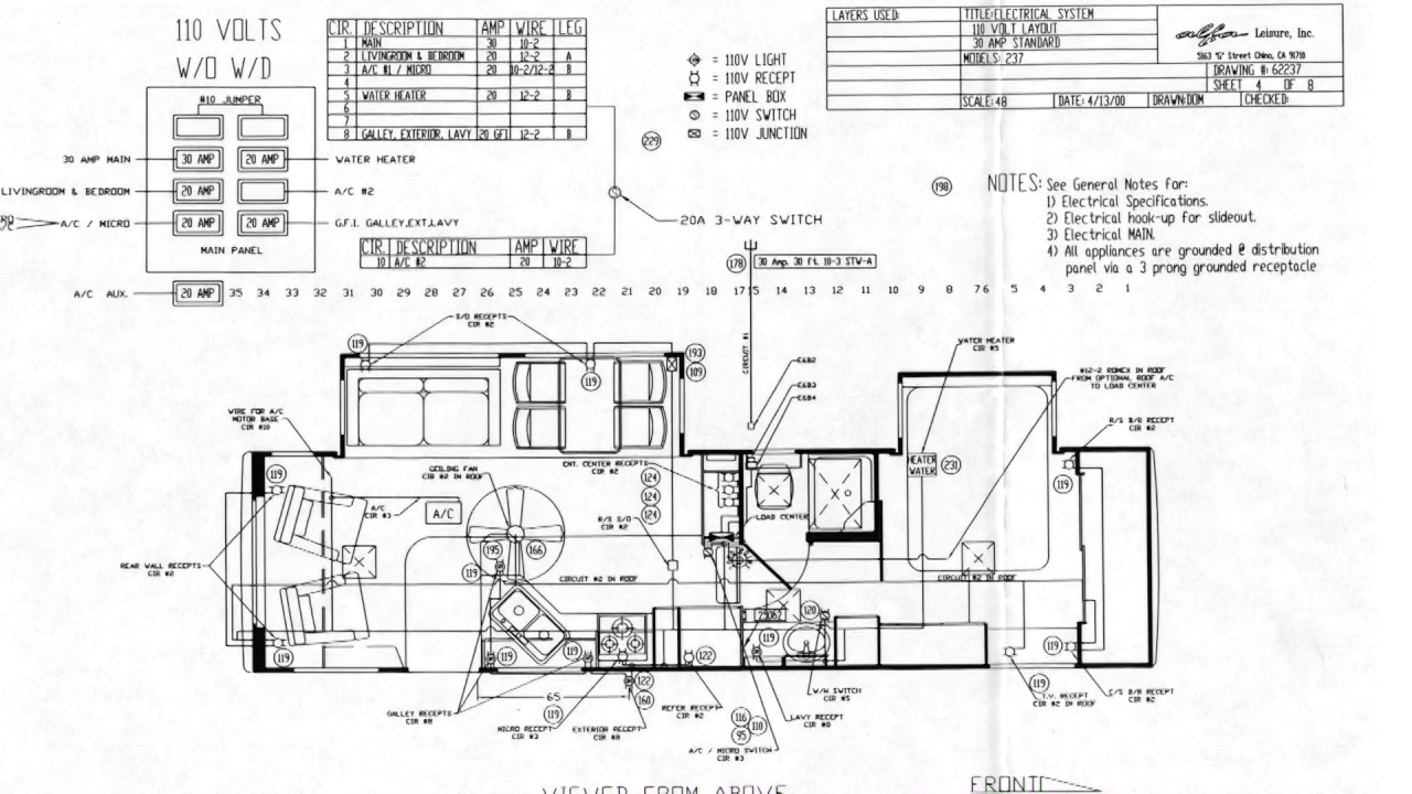 2000 Alfa Ideal ID31RL Wiring Diagrams 3 of 8 4 of 8 Video 2 of 4  YouTube