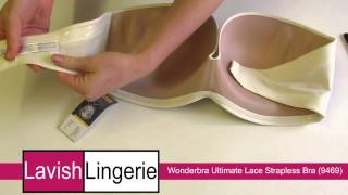 Wonderbra Ultimate Strapless Bra Lace (9469) Ivory/Skin