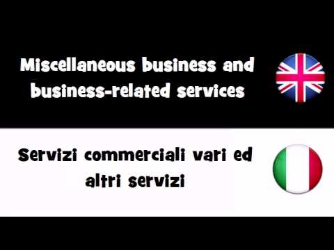 VOCABULARY IN 20 LANGUAGES = Miscellaneous business and business related services