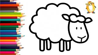 Раскраска для детей ОВЕЧКА. Мультик - Раскраска. Учим цвета II ОБУЧАШКА ТВ