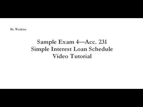 Acc. 231 Test 4 Simple Interest Loan Calculator