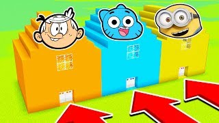 DO NOT CHOOSE THE WRONG HOUSE (LOUD HOUSE, GUMBALL, MINIONS)(Ps3/Xbox360/PS4/XboxOne/PE/MCPE)