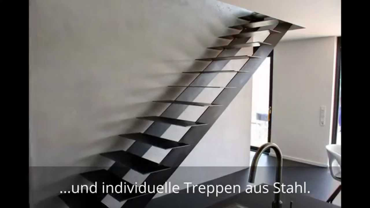 individuelle treppen aus stahl exklusive stahltreppen youtube. Black Bedroom Furniture Sets. Home Design Ideas