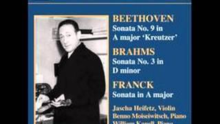 """Beethoven - Violin Sonata no.9 """"Kreutzer"""" - 1st movt (Heifetz)"""