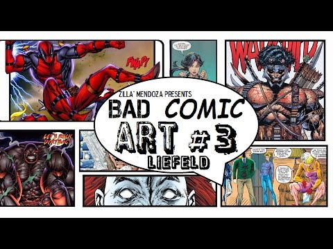 Bad Comic Art #3 ROB LIEFELD SPECIAL