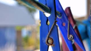 Clothespins Clothesline Stock Video Footage For Website Design (Free)