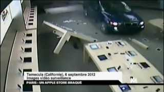 Paris Braquage d'un Apple Store (01-01-2013) - Hold Up Apple Store in Paris (France)