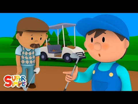 Garry's Golf Cart Is Covered In Sand | Carl's Car Wash | Cartoons For Kids