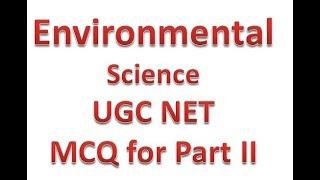 MCQ ON ENVIRONMENTAL SCIENCE TOPIC SOIL UGC NET - GSV BINA