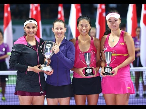 Cara Black/Sania Mirza vs Peng Shuai/Su-Wei Hsieh Doubles Final Highlights | 2014 WTA Finals
