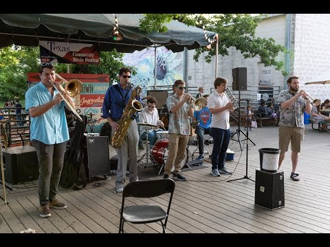 2018 Texas Community Music Festival, Big Wy's Brass Band, Boogaloo, Central Market North, 4-21-2018
