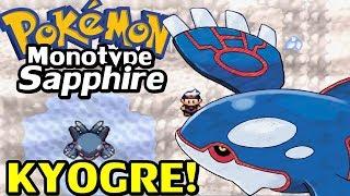 Pokémon Sapphire (Detonado Monotype - Parte 14) - Kyogre e HM Waterfall
