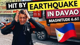 Hit by EARTHQUAKE in DAVAO - SCARY moment in MINDANAO