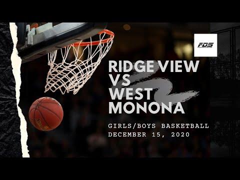 Ridge View vs West Monona Basketball G/B 12/15/20