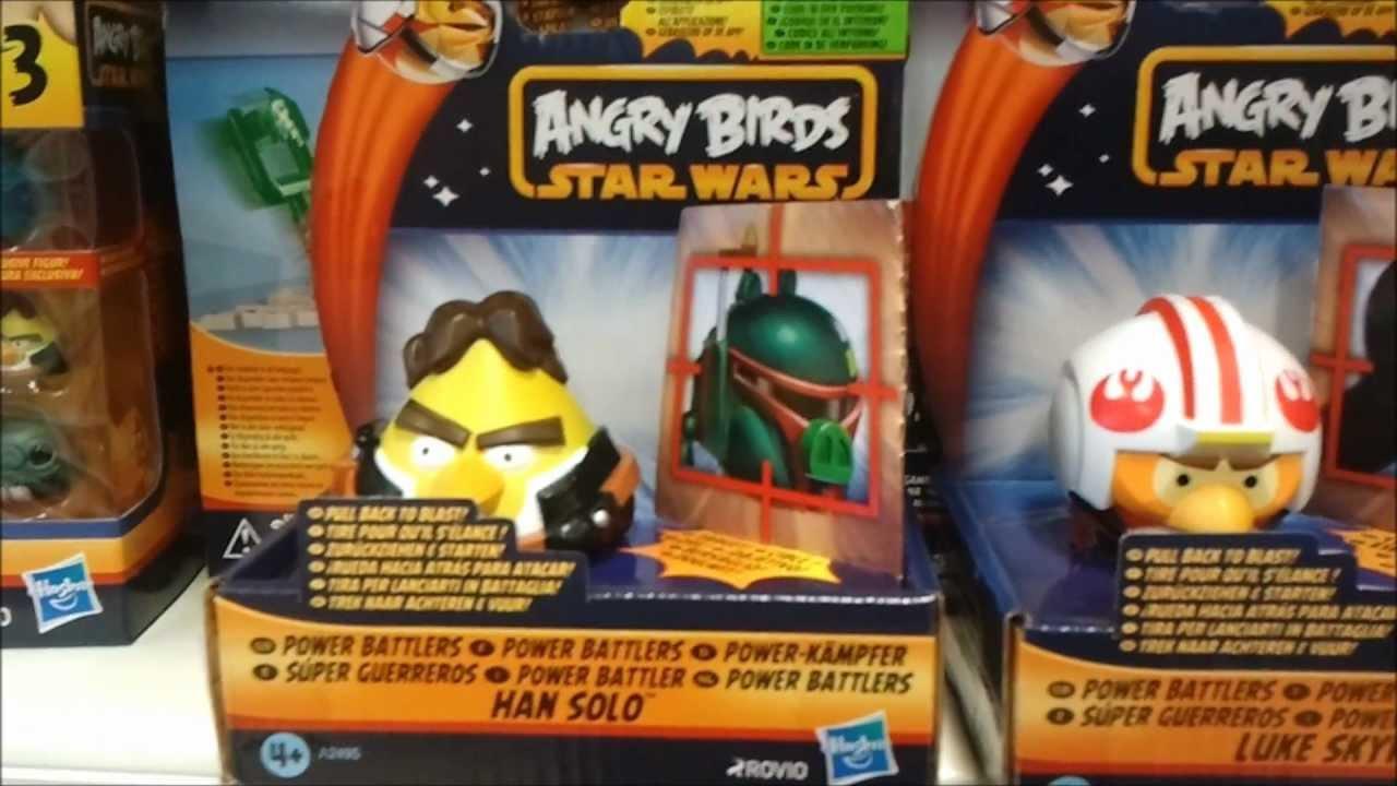 Star Wars /& Angry Birds Power Battlers Han Solo Luke Skywalker Darth Vader SET