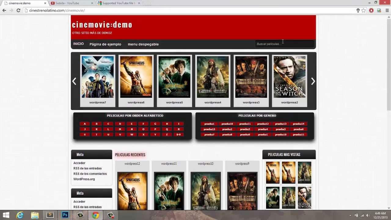 theme plantilla wordpress para peliculas online, descargas o reviews ...