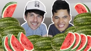 10 Watermelons in 10 Min Challenge! (ft. SMOSH IAN)