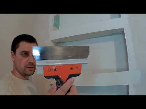 Шпаклевка гипсокартона - Ниши в стене