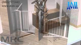 видео Детское ограждение для лестниц