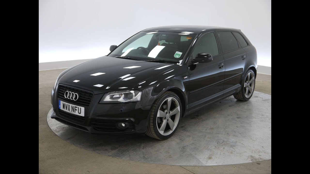 2011 audi a3 sportback black edition 2 0tdi for sale in hampshire youtube. Black Bedroom Furniture Sets. Home Design Ideas