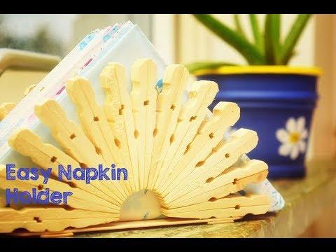 DIY Napkin Holder using Cloth Clips