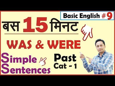 Basic English Grammar | Simple Sentences Past Cat 1 | Was Were Use
