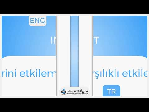 Interact  Nedir? Interact  İngilizce Türkçe Anlamı Ne Demek? Telaffuzu Nasıl Okunur? Çeviri Sözlük