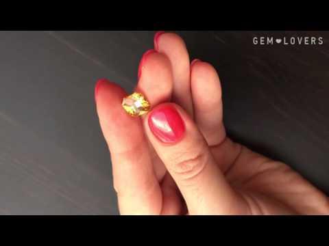 Жёлтый камень циркон 4,18 карата