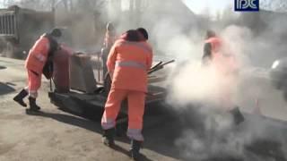 Ямочный ремонт участка дороги возле п. Ростилово под Вологдой 2